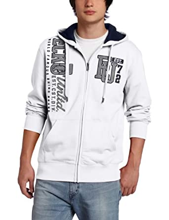 ecko unltd. Men's Eu72 Vertical Logo Hoodie Sweater, Bleach White, Small