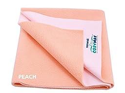 Cozymat Soft, Waterproof, Reusable Mat / Underpad / Absorbent Sheets / Mattress Protector (Size: 70cm x 50cm) PEACH, S
