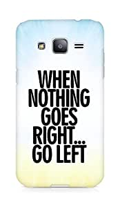 AMEZ when nothing goes right go left Back Cover For Samsung Galaxy J2
