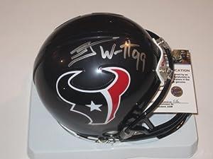 JJ Watt Houston Texans Signed Autographed Mini Helmet with Certificate of...