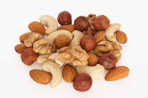 Food Wall Decals Pile Of Assorted Nuts - 36 Inches X 24 Inches - Peel And Stick Removable Graphic