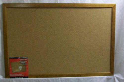 Dooley Deluxe Oak Framed Cork Board, 23 x 35 Inches, 1 Board (2335CODE)