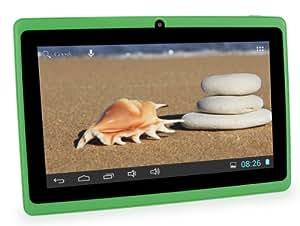 CONNECT A7 Classic B Tablette Tactile - 7 pouces écran capacitif, Android 4.2, 4 Go de stockage, 1.2GHz processeur, caméra frontale, WIFI Tablet PC, vidéo HD, batterie 2400mah, Google Play Store, soutient Word, Excel, PowerPoint, PDF et plus (Vert)