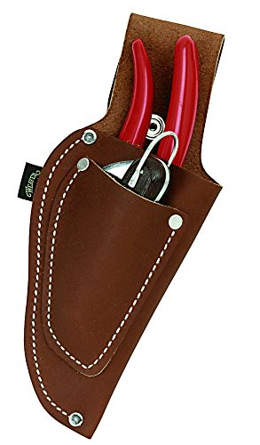 Weaver Leather Pistol Type Pruner Pouch with Knife Pouch, Brown