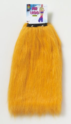Club Candy Costume Fur Leg Covers Adult: Orange