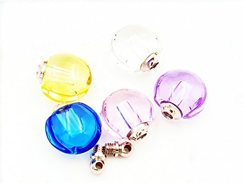 13.513.58mm small apple crystal charms with screw cap , glass vial pendant perfume bottles -10pcs (Crystal Vial compare prices)