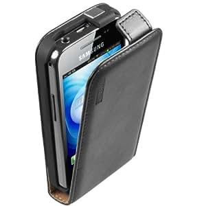 mumbi Premium Ledertasche Flip Case für Samsung Galaxy Ace S5830 S5830i