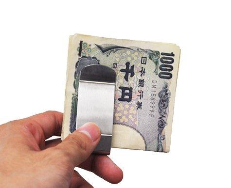 E-Clip マネークリップ メタルシルバー MoneyClip 【Windasia】
