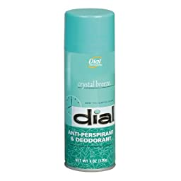 Dial 00886 Scented Anti-Perspirant & Deodorant, Crystal Breeze, 6oz Aerosol (Case of 12)