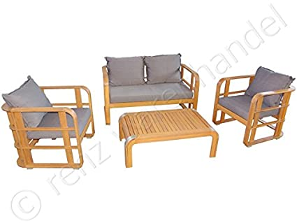 gartenm bel gartensitzgruppe holz lounge akazie inkl. Black Bedroom Furniture Sets. Home Design Ideas