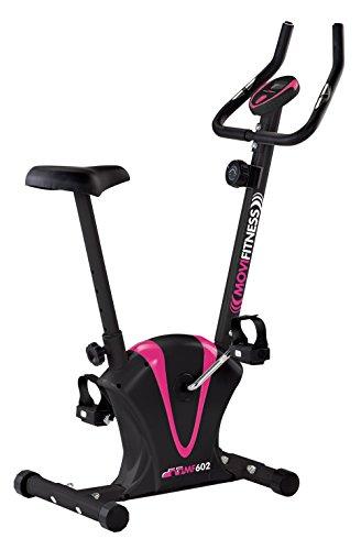 Movi Fitness MF602 Cyclette Magnetica, Nero/Fucsia