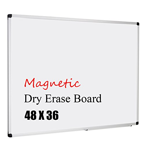 XBoard 48x36-Inch Magnetic Dry Erase Whiteboard Board with Aluminum Frame