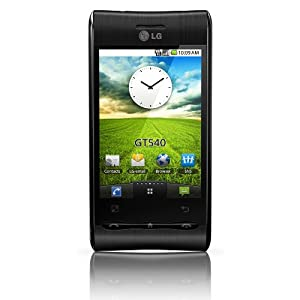 LG GT540 Optimus Unlocked Phone in Black with 3MP Camera, Android OS, Wi-Fi GPS, Touch Screen, and GPS - Unlocked Phone - International Warranty (Black)
