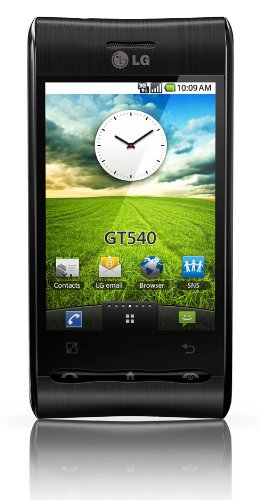 LG GT540 Optimus Smartphone (ANDROID, 7,6 cm (3 Zoll) Display, Touchscreen, 3 Megapixel Kamera) schwarz