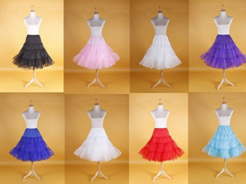 "Rose 26"" Rockabilly 50s Underskirt Ballet Tutu Party Swing Petticoat Wedding Slip"