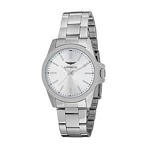 Gianello Men's Stainless Steel Silvertone Dial Bracelet Watch - Silver