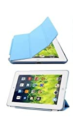 Delite Smart Flip Case for Apple iPad 2/3/4 (Sky Blue)