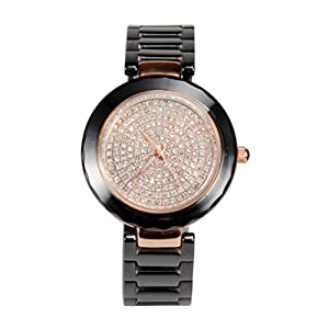 Zonman® Black Luxury Ceramic Watch Female Fashion Diamond Ladies Watch for Women