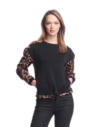 W118 by Walter Baker Women's Sofia Sweatshirt  [Leopard/Black]
