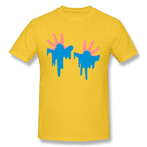 100% Cotton Folder Child Painting Hands T-Shirts\R\Nfor Guy - Crew Neck front-323365