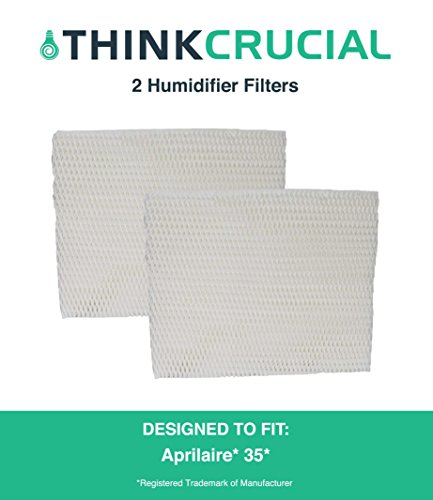 2 Aprilaire 35 Paper Wick Humidifier Water Pad Filters Fit 350, 360, 560, 560A, 568, 600, 700, 760, 760A, 768 (35), Designed & Engineered by Crucial Air