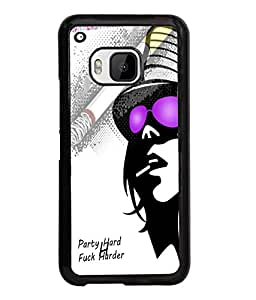 Fuson Party Girl Back Case Cover for HTC ONE M9 - D3725