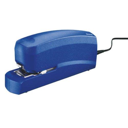 Esselte Leitz 55330035 Elektrisches Heftgerät, Heftleistung 20 Blatt, blau