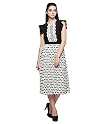 Tryfa Women's Dress (TFDRMI0000129-XL-L_White_Large)