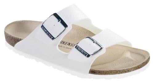 Birkenstock Arizona Sandals Birko Flor - Eur 40 - Regular - White front-980553