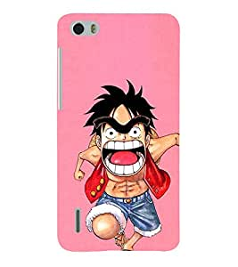 EPICCASE Angry boy Mobile Back Case Cover For Huawei Honor 6 (Designer Case)