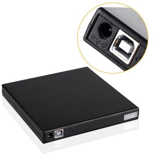zhizhu slim portable usb 2 0 external optical dvd cd rw. Black Bedroom Furniture Sets. Home Design Ideas