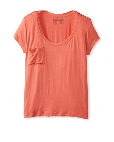 Sweet Romeo Women's Pocket Luxury T-Shirt