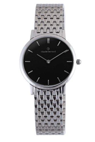 Claude Bernard Men's 20061 3M NIN Classic Gents - Slim Line Black Dial Stainless Steel Watch