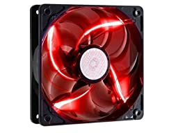 Cooler Master SickleFlow 120 - Sleeve Bearing 120mm 3-Pin LED Silent Fan for Computer Cases, CPU Coolers, and Radiators - Red
