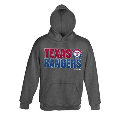 MLB Boy's Texas Rangers Team Hoodie (Heather Grey), Youth
