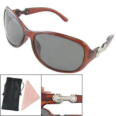 Como Ladies Brown Plastic Full Frame Polarized Fishing Sunglasses