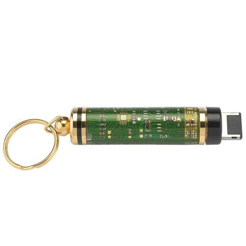 Woodturning Project Kit for Circuit Board Twist Key Chain With 2GB Drive, Gold