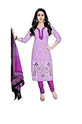 Pandadi Creation Women's Cotton Multicolor Color Dress Material with Cotton Dupatta