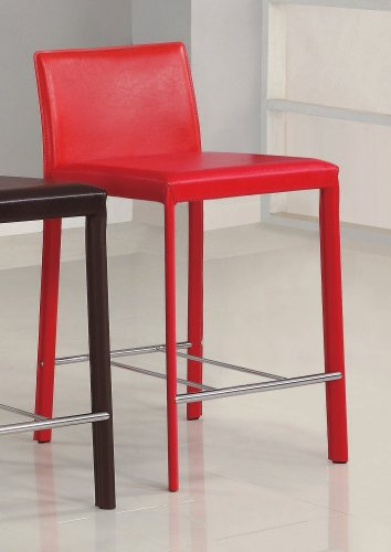 Cheap 18 Inch Stools ~ Inch bar stool set of in red coaster cheap