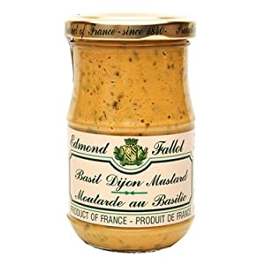 Basil Mustard Fallot French Dijon Moutarde au Basilic, 7 oz, One