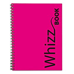 Canson Whizz Book 80 GSM A4 Art Book of 136 Fine Grain Sheets - Pink Spiral Cover
