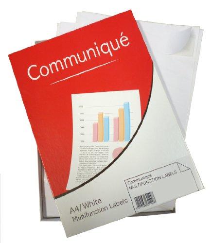 Communique - Etichette multifunzione per stampanti, 100 fogli, 8 per foglio, 99,1 x 67,7 mm