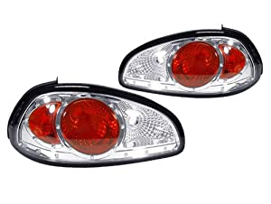 A Pair of Depo Clear Lense with Chrome Housing (Altezza) Tail Lights - Pontiac Grand Prix 1997-2003