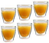 "Feelino 6x 200ml ""Rondorello"" doppelwandiges Kaffeeglas & Teeglas"