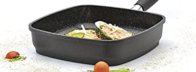 "Eurocast/Berghoff Professional Cookware 9.5"" Grill Pan with Removable Handle"