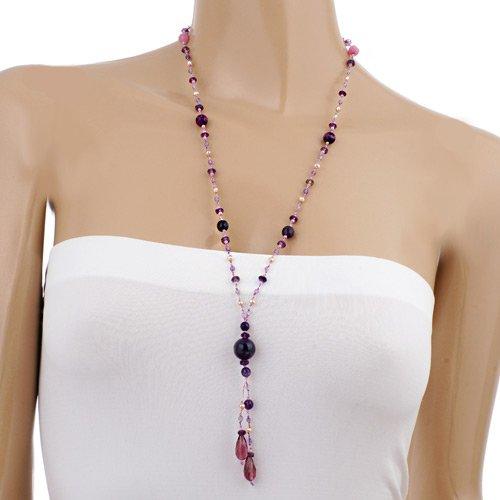 Purple Lavender and Pink Jade Gemstones Beads