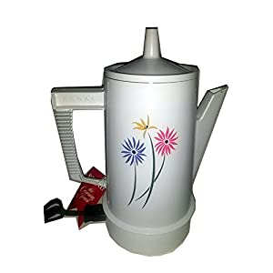Electric Coffee Maker Invented : Amazon.com : Vintage Regal Poly Perk Automatic Electric Coffee Percolator 4-8 Cup Flowers Made ...