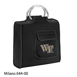 Wake Forest Demon Deacons Milano Insulated Neoprene Lunch Tote - Black w/Digital Print