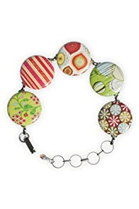 Blue Hill by Hand Retro Holiday Bubble Bracelet