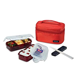 lock lock rectangular lunch box bento set hpl752dr red. Black Bedroom Furniture Sets. Home Design Ideas